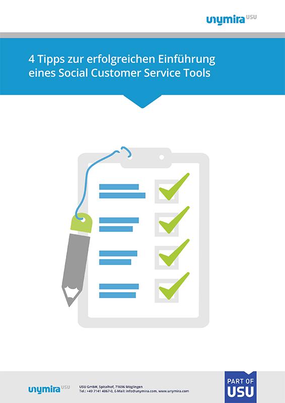 Infografik - 4 Tipps zur erfolgreichen Einführung eines Social Customer Service Tools
