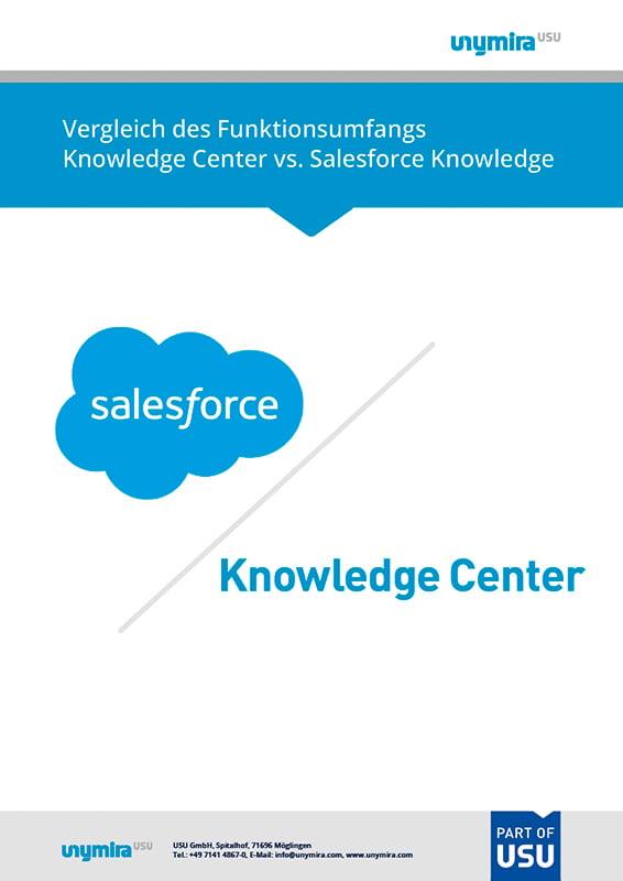 Vergleich Knowledge Center vs. Salesforce Knowledge