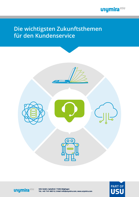 Infografik Zukunftsthemen des Kundenservice