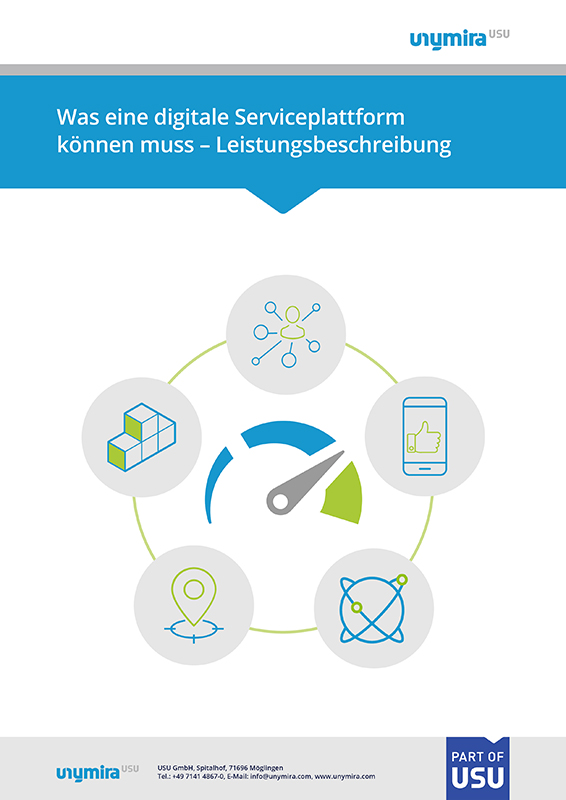 Infografik Leistungsbeschreibung digitale Serviceplattform