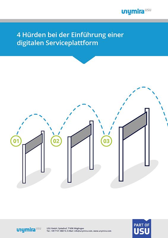 Infografik Stolpersteine bei der Einführung einer digitalen Serviceplattform