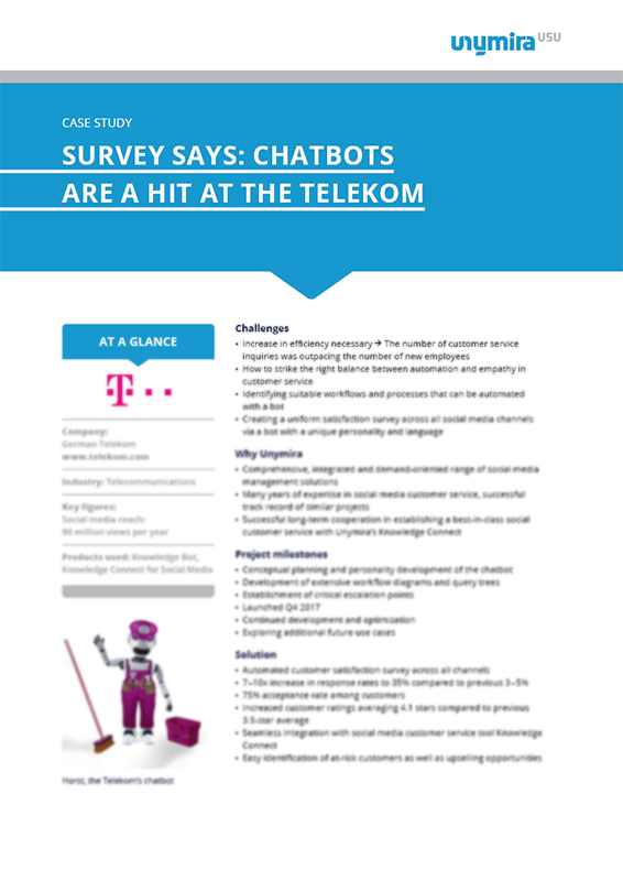 Case Study Survey Says: Chatbots are a Hit at the Telekom