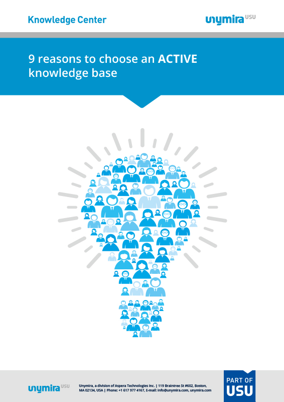 Infographic reasons to choose an active knowledge base