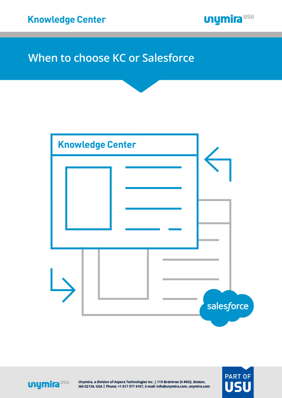 When to Choose Knowledge Center or Salesforce Knowledge