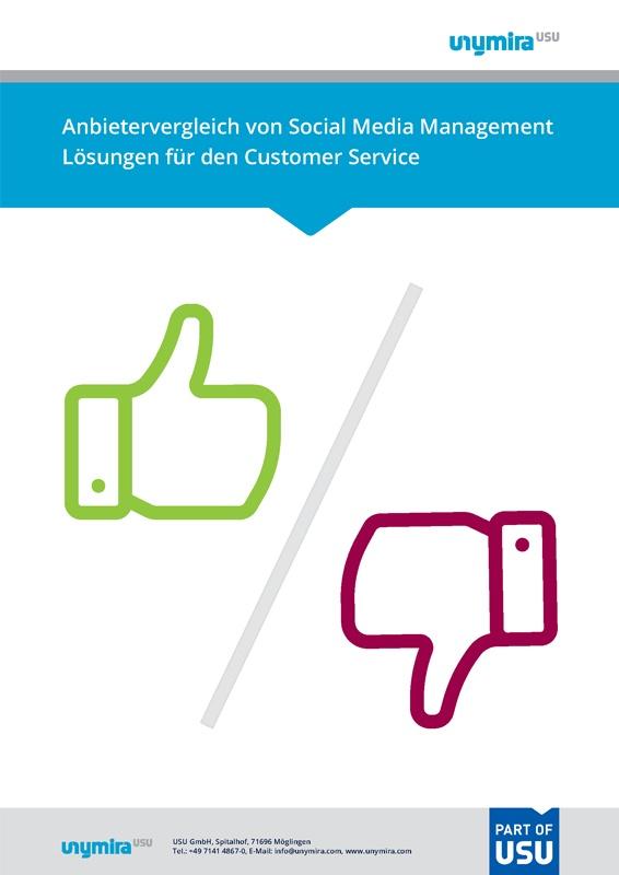 Infografik Anbietervergleich Social Customer Service