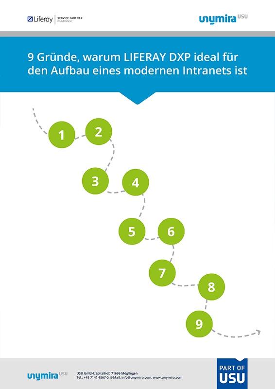 Infografik - 9 Gründe, warum Liferay DXP ideal für den Aufbau eines Intranets ist