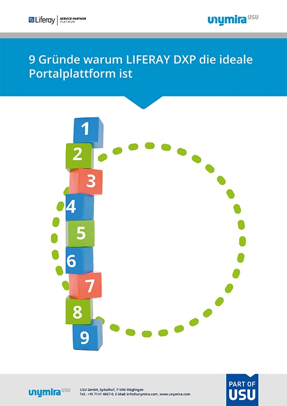Infografik Gründe, warum Liferay DXP die ideale Portalplattform ist