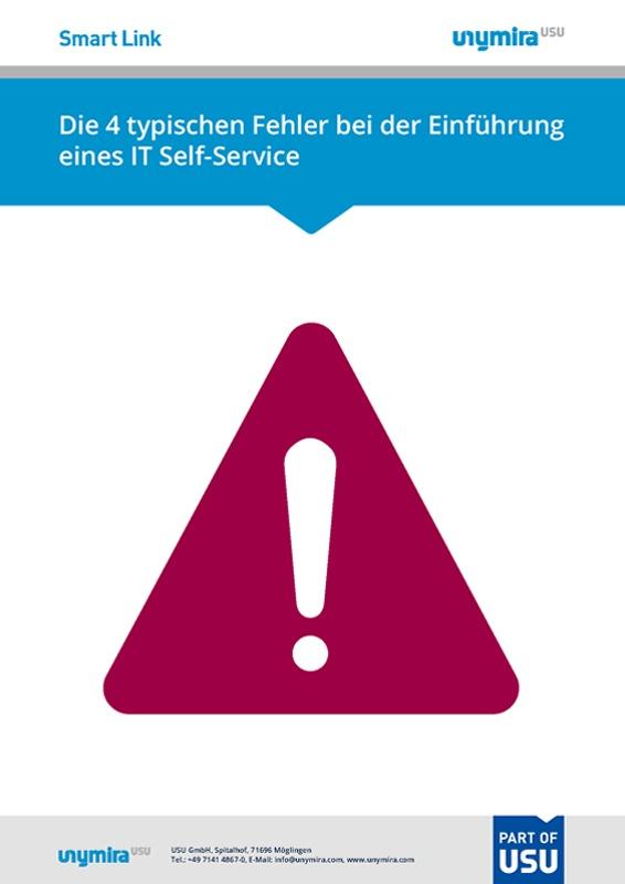 Infografik typische Fehler bei der Einführung eines IT Self-Service